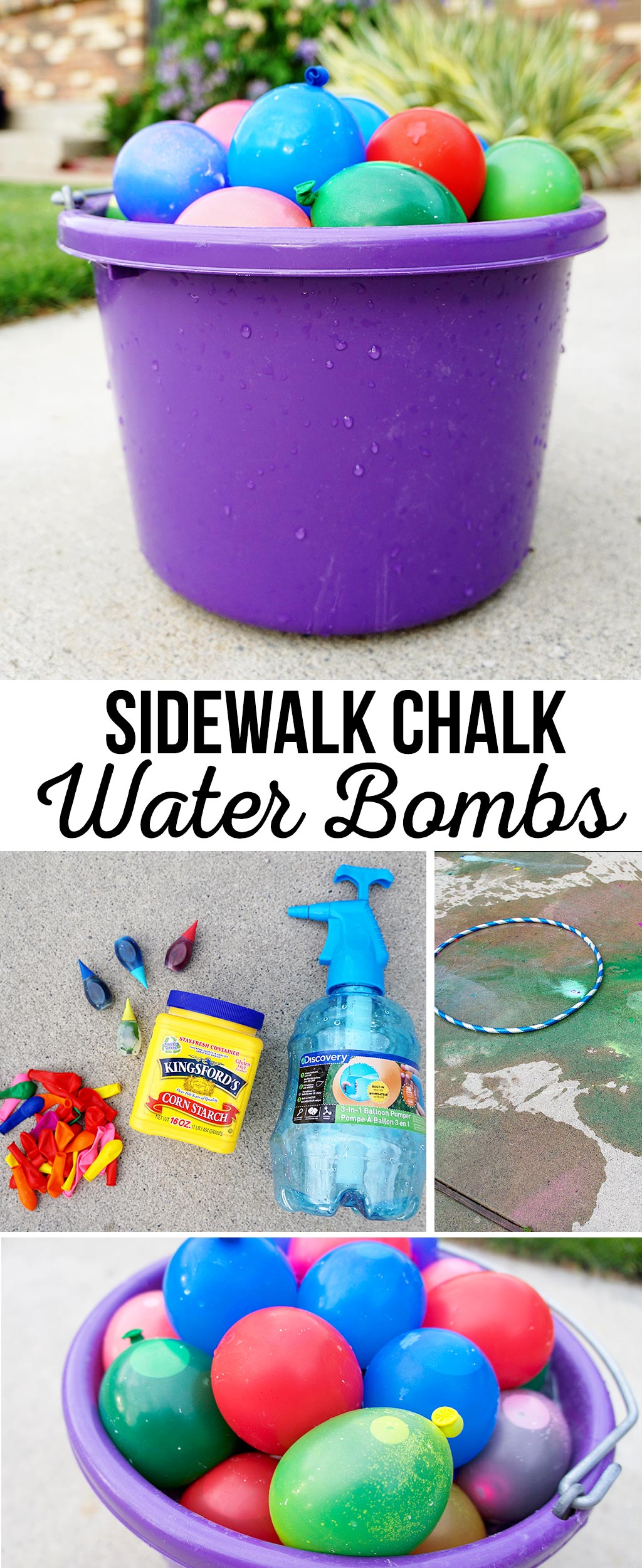 Sidewalk Chalk Water Bombs