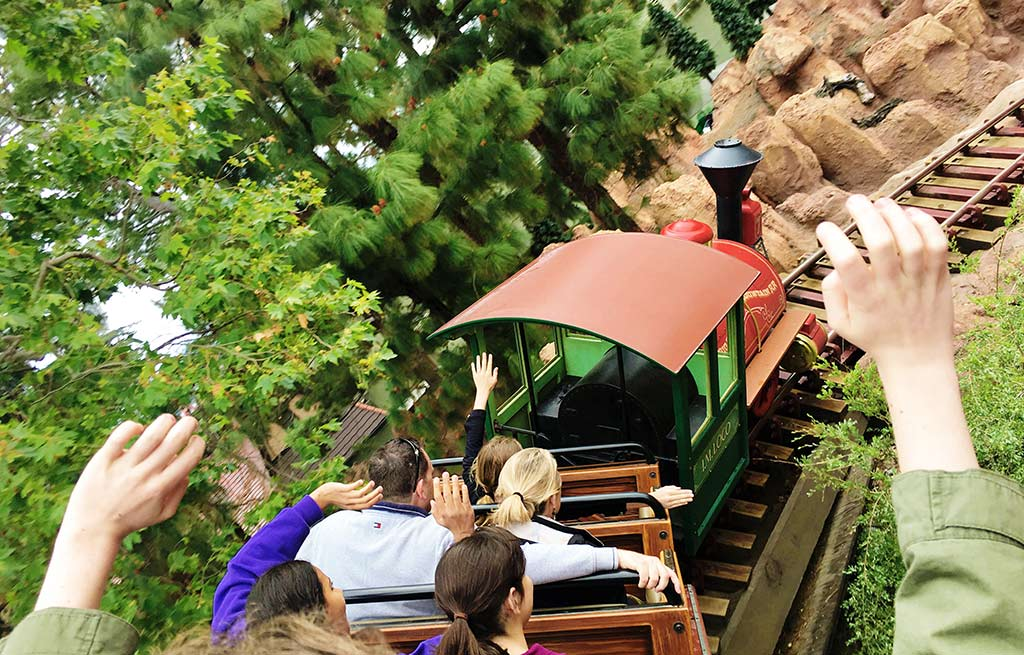 Big Thunder Mountain Railroad at Disneyland during summer | Find out how to beat the heat at Disneyland during summer. Learn about the best rides, treats and tricks for staying cool on a hot day.
