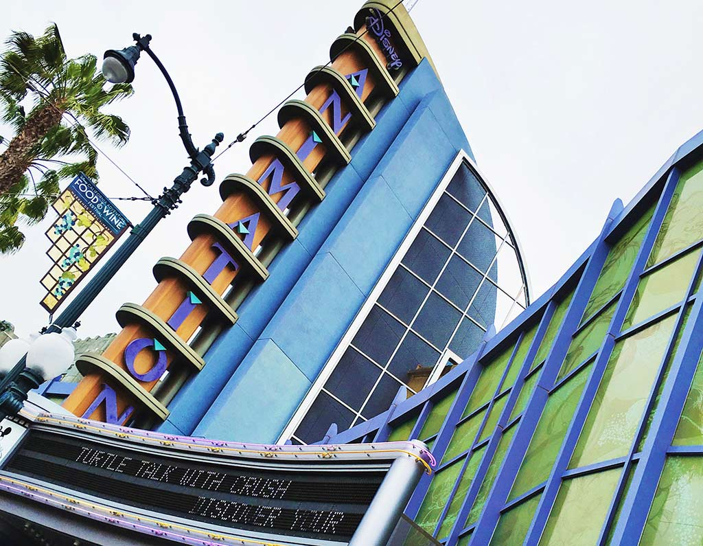 Animation Building at Disneyland during summer