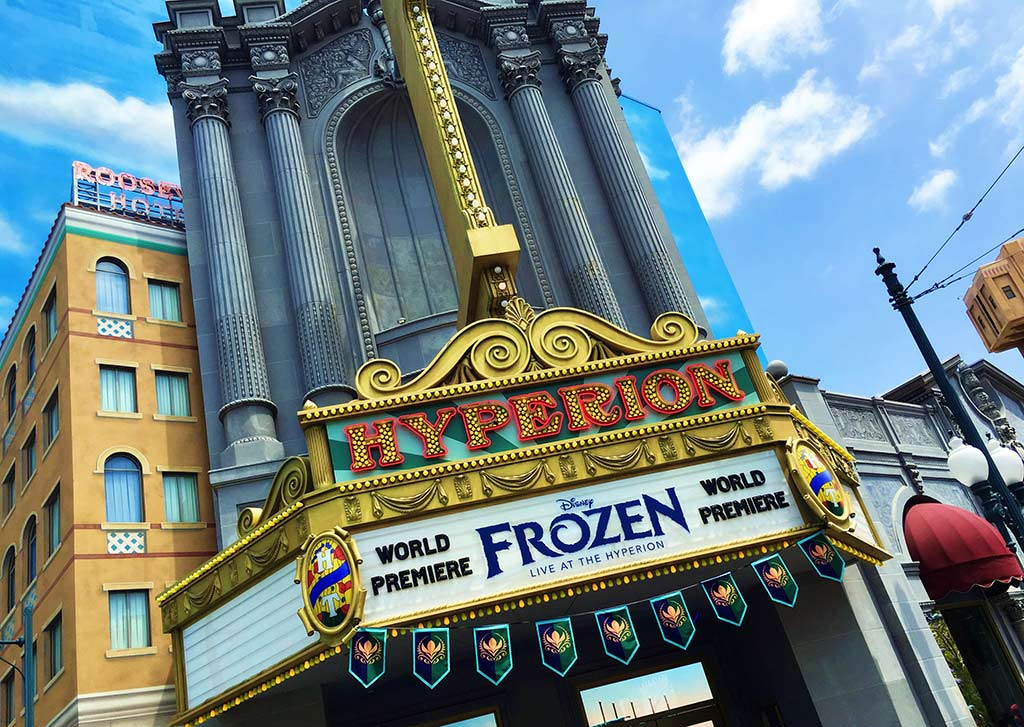 Frozen at the Hyperion at Disneyland during summer