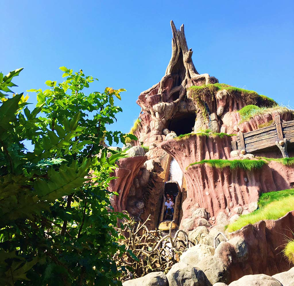Splash Mountain at Disneyland during summer