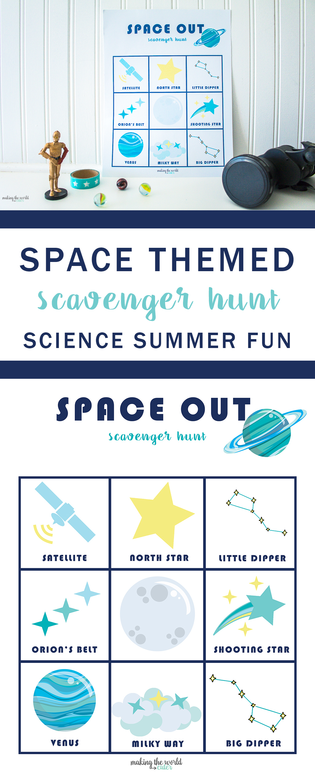 Space Themed Scavenger Hunt
