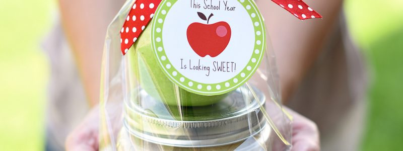 caramel apple teacher gift idea