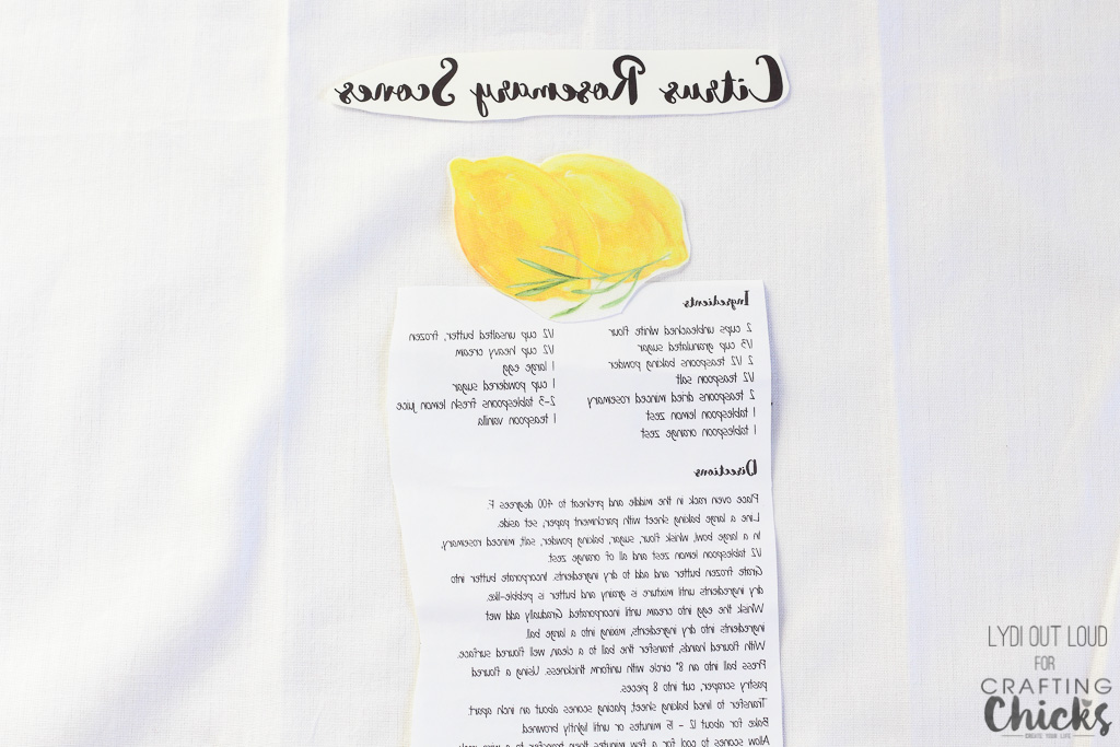 Farmhouse Style Recipe Kitchen Tea Towels