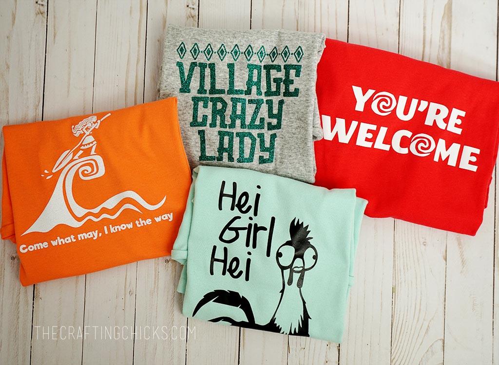 Moana Themed Girls Camp Tshirts