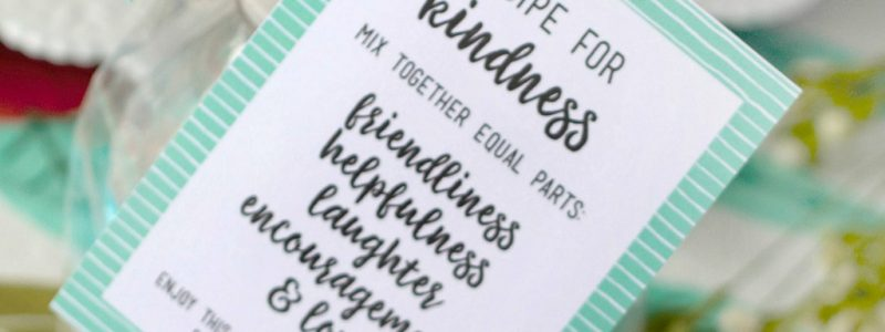 """Recipe for Kindness"" Random Acts of Kindness Treat Bags"
