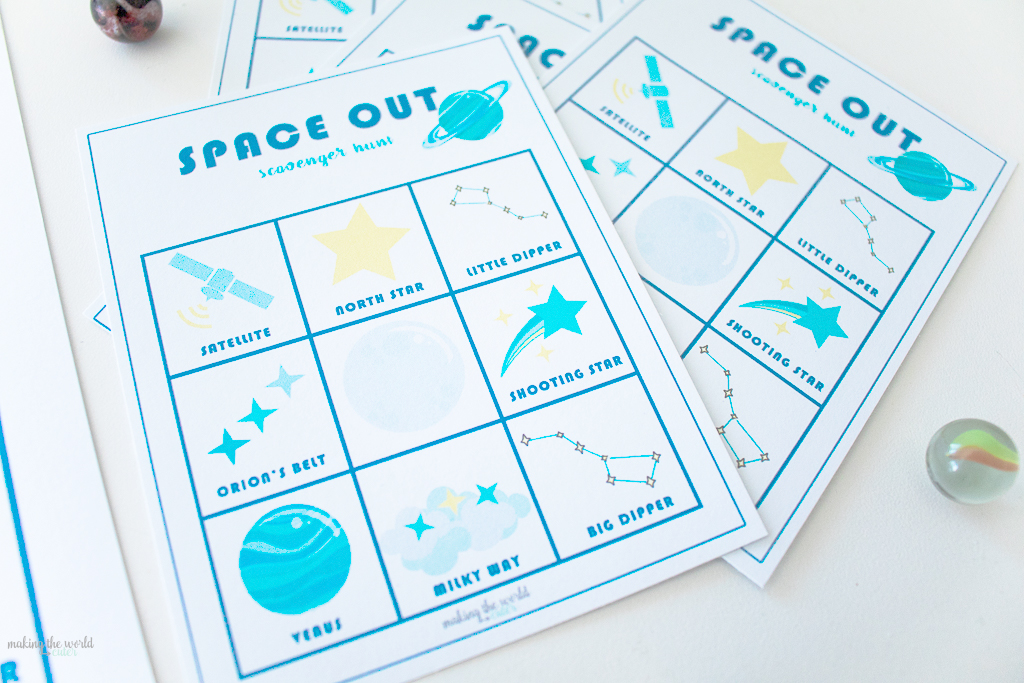 Space Scavenger Hunt Printable
