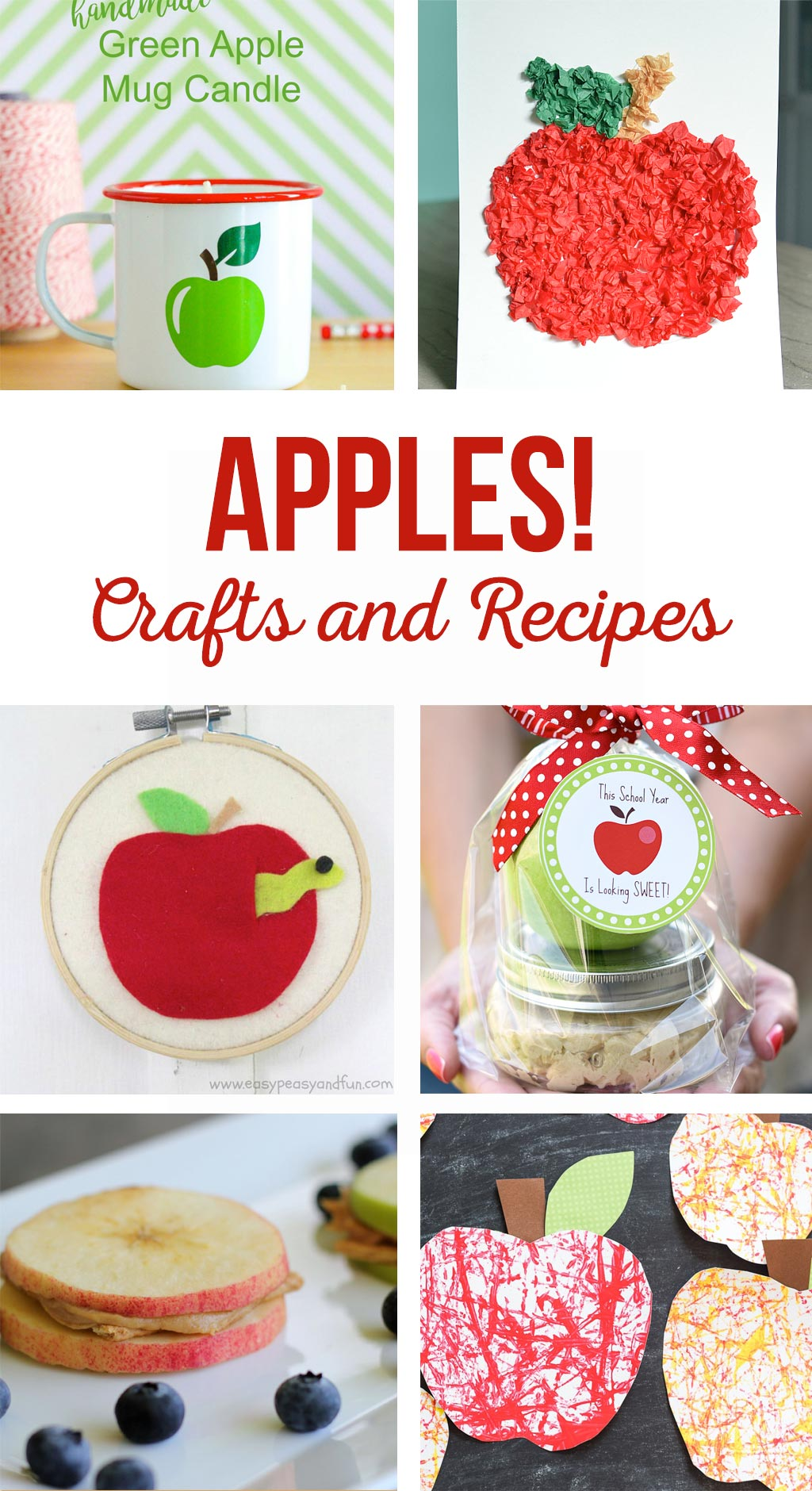 Apple Crafts and Recipes | Kids will love these simple apple activities.  Add a printable tag to these fun apple gift ideas.  Enjoy yummy apple recipes!