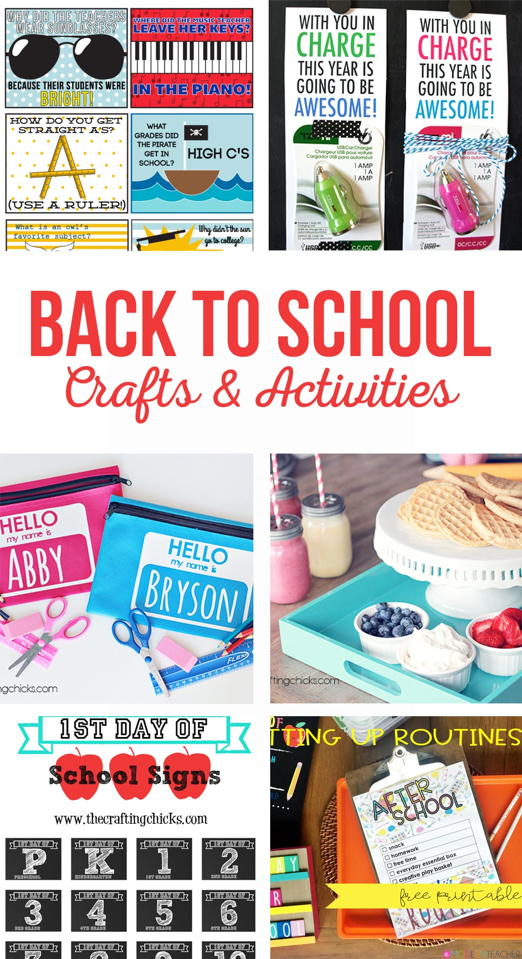 Back to School Crafts and Activities | School is starting... start a new back to school tradition with your family this year. Printables, crafts, activities