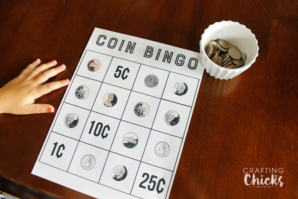Coin Bingo is a fun way for kids to learn about money.