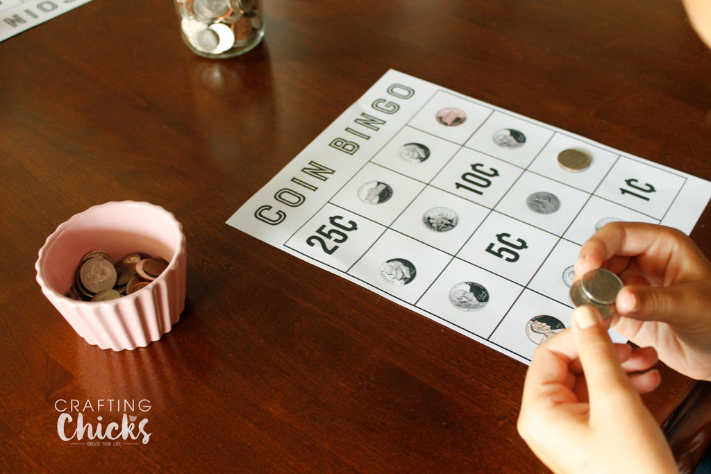 Coin Bingo Free Printable is a great way for kids to learn what each coin is, and what it is worth. This is a great learning tool in a game form. Kids will love it.