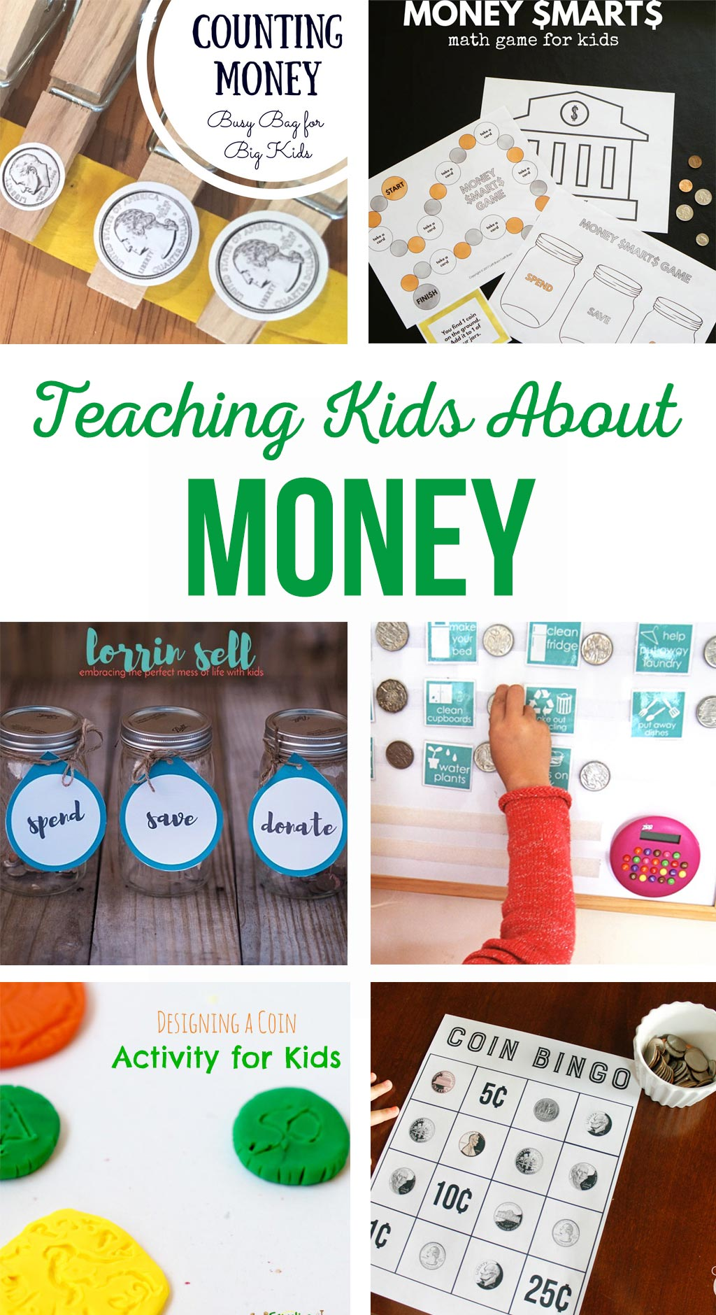 Teaching Kids About Money | Help your children learn about money management with these helpful printables, games and ideas
