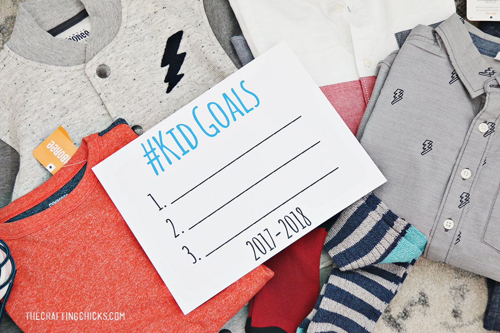 back to school goals for the new school year, printable kid goal sheet for a new school year