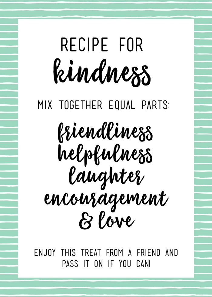 Random Acts of Kindness Treat Bags - printable tags and lots of ideas for bag fillers!