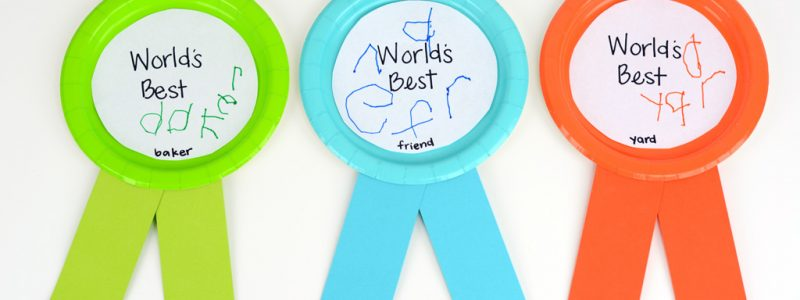 Giant Award Ribbons Kids Craft