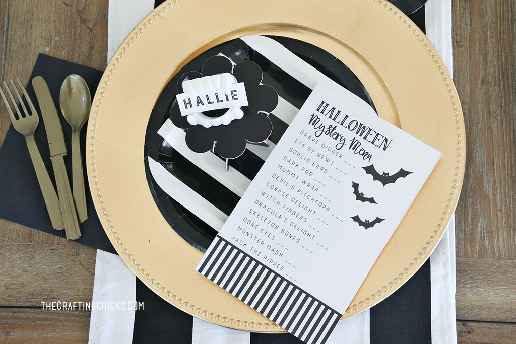 Halloween Mystery Dinner Printable Menu
