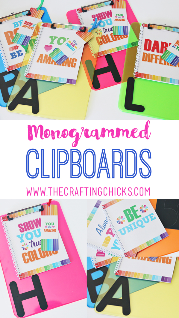 Monogrammed Clipboards Back to School Gift for kids or teachers. This makes a great back to school gift. Teachers and students will love it!