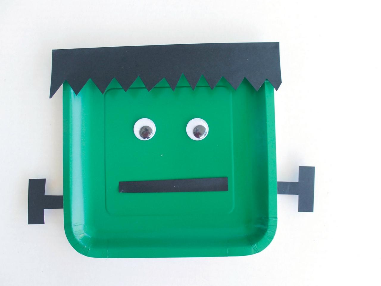Frankenstein Paper Plate Kids Craft
