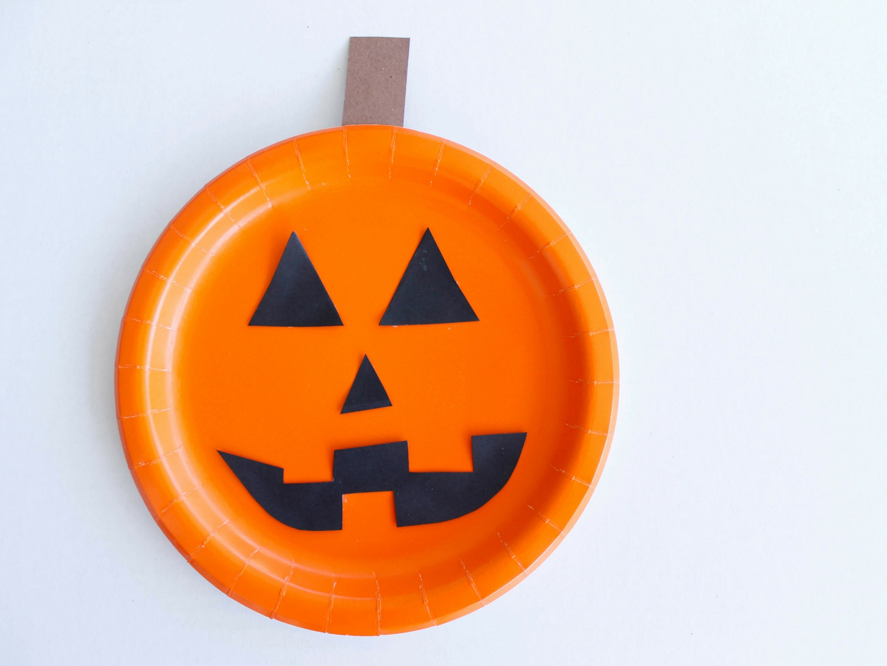 Pumpkin Paper Plate Kids Craft