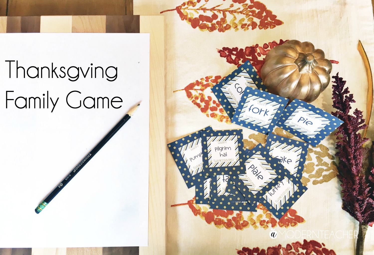 Family Game for Thanksgiving, including a free printable!