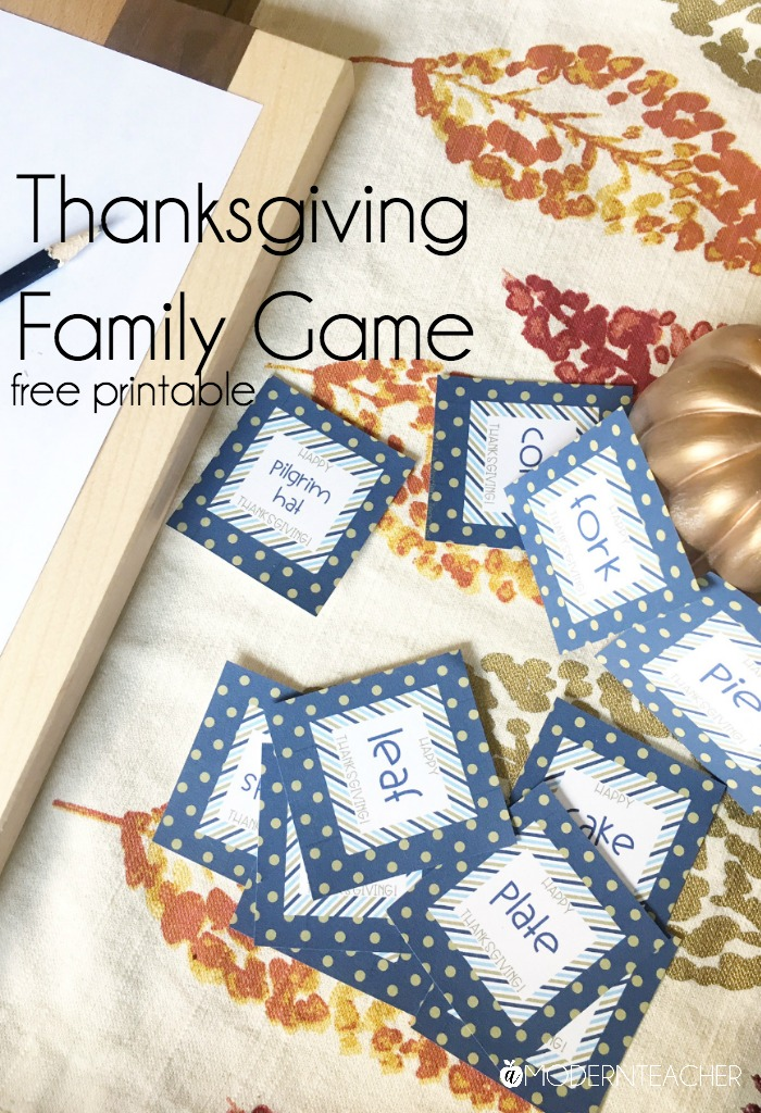 Printable Thanksgiving Family Game