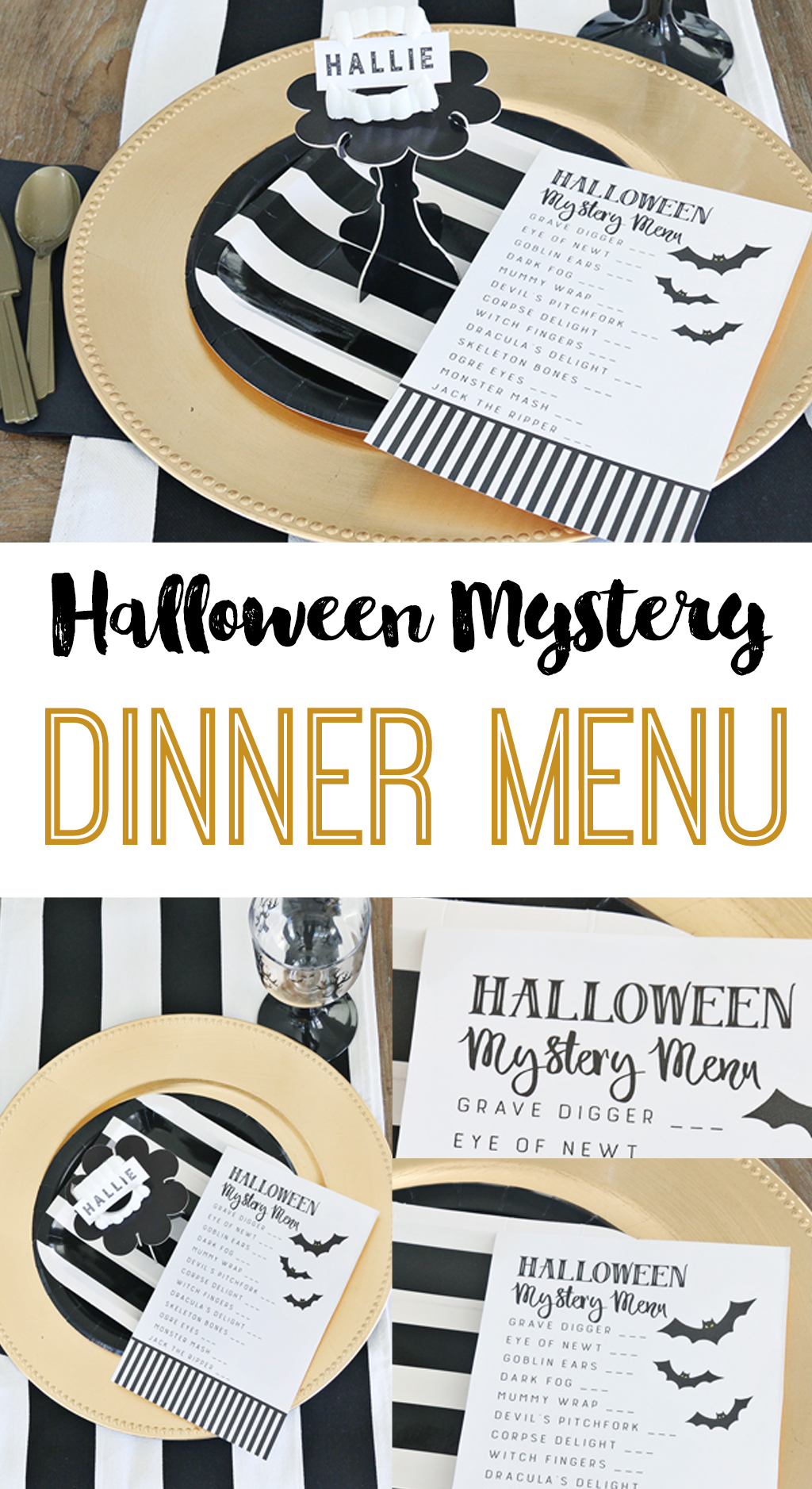 Halloween Mystery Dinner Party | Free Printable Menu for a Mystery Halloween Dinner