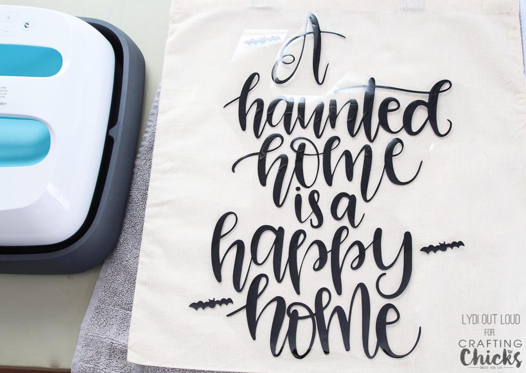 Iron-on Halloween Tote Bag