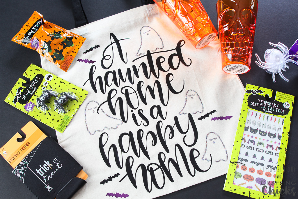 Halloween tote bag to BOO your neighbors!