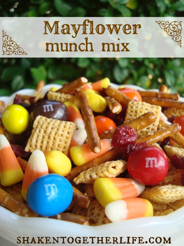 Mayflower Munch Mix - a Thanksgiving snack from Shaken Together