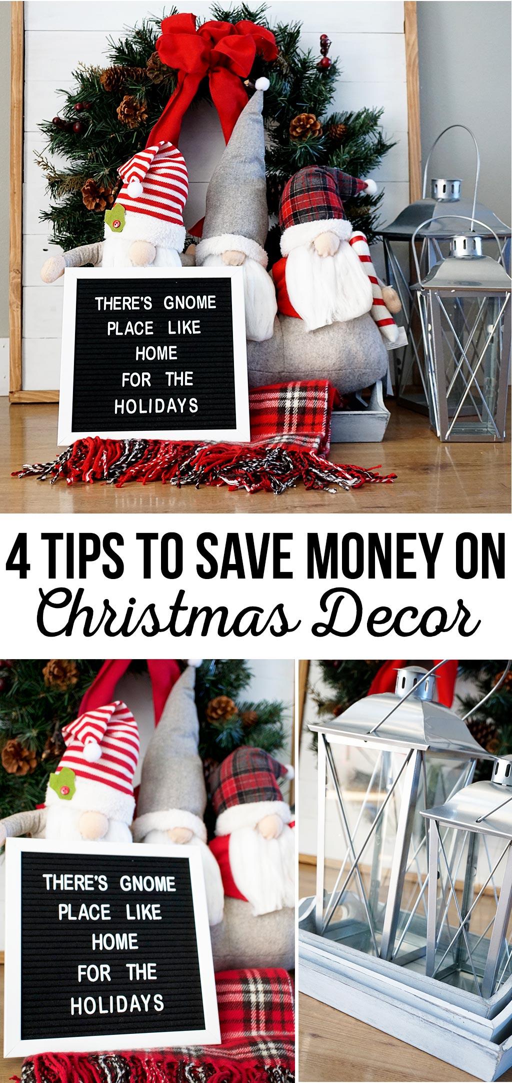 4 Tips to Save Money on Christmas Decor