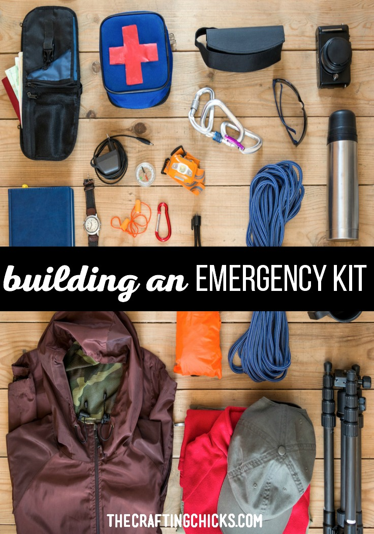 Building an emergency kit ensures that you will have the necessary items, food, and first aid needs covered at any time.