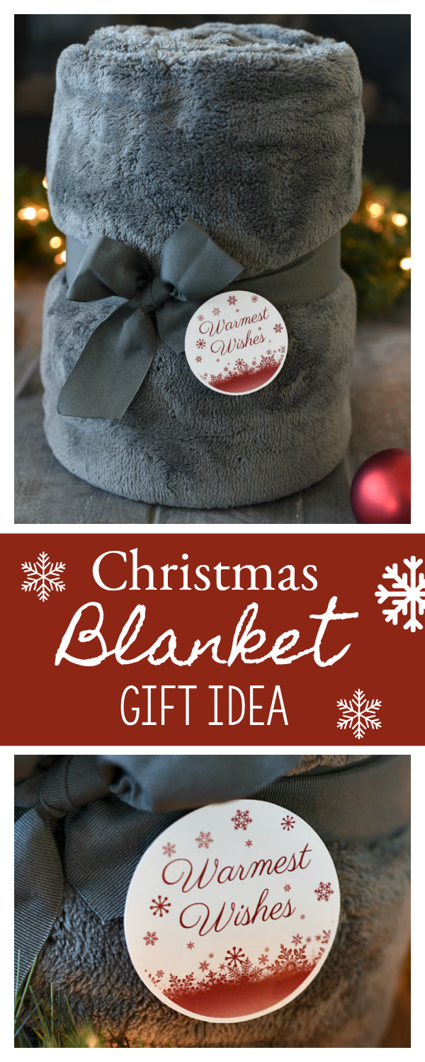 Christmas Blanket Gift Idea-Perfect to give to neighbors or friends this holiday season. #neighborgift #christmasgift #giftideas #holidaygifts
