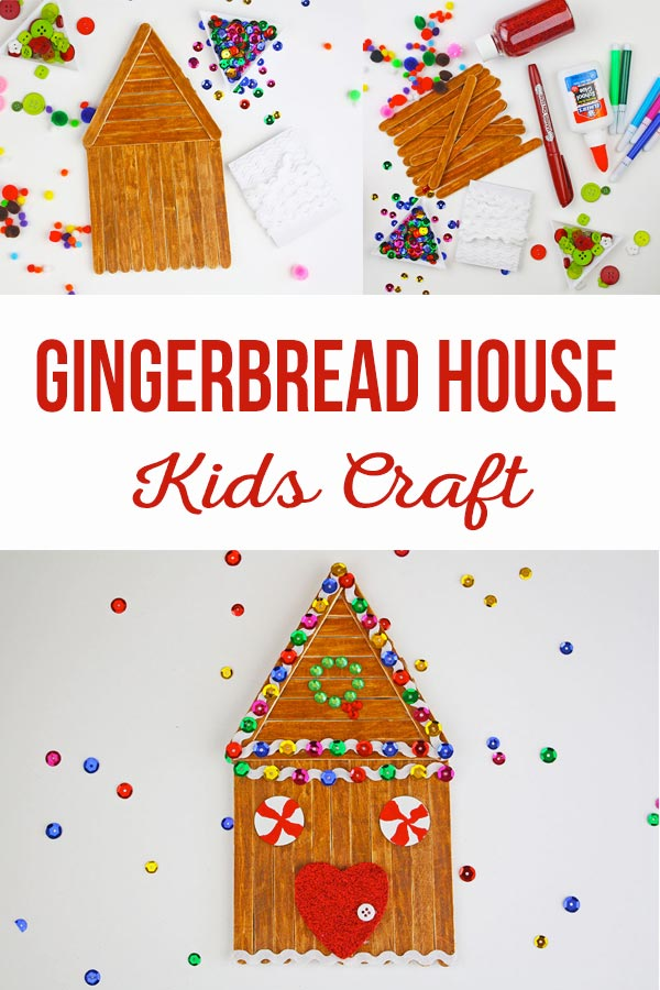 GIngerbread House Kids Craft