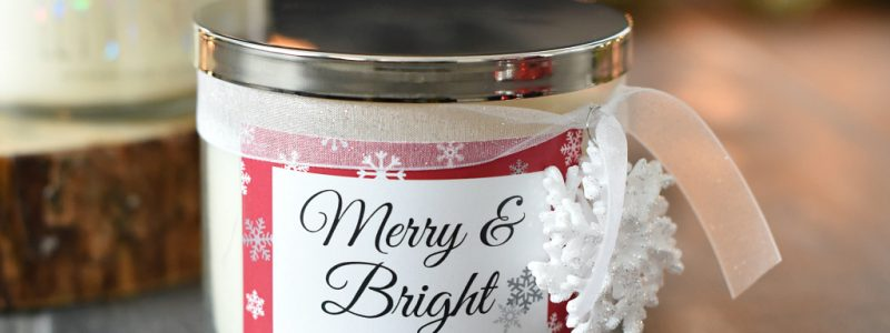 Christmas Candle Gift Idea