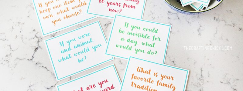 Family Dinner Conversation Starter Cards