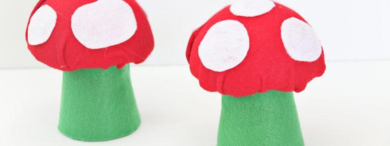 DIY Felt Mushrooms