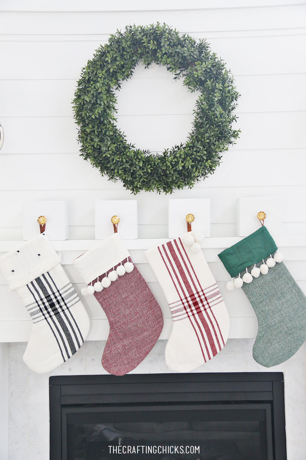 DIY Stocking Hanger Box for a Christmas Mantle, an Easy DIY stocking holder for your Mantle