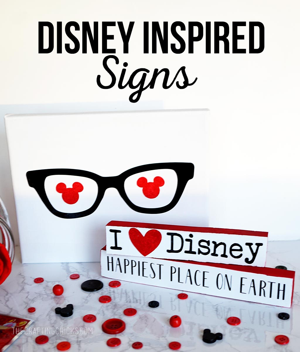 Disney Inspired Signs | These Disney Signs are an inexpensive and cute gift idea for those people on your Christmas list.