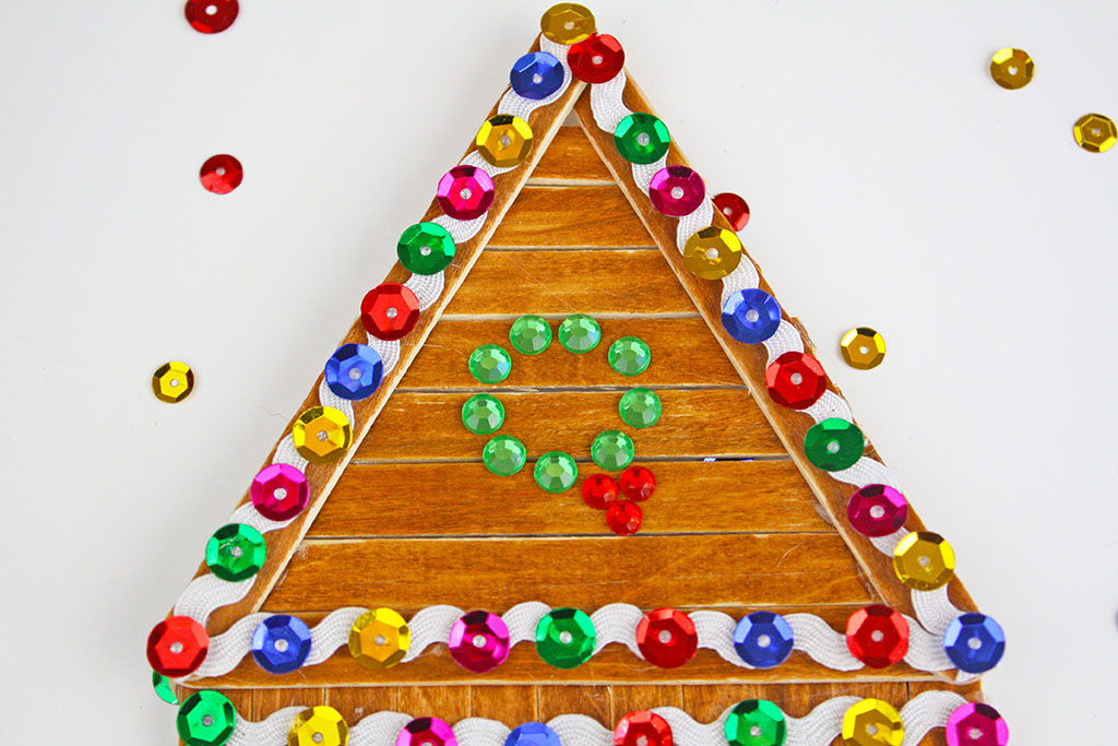 Popsicle Stick Gingerbread House Craft The Crafting Chicks