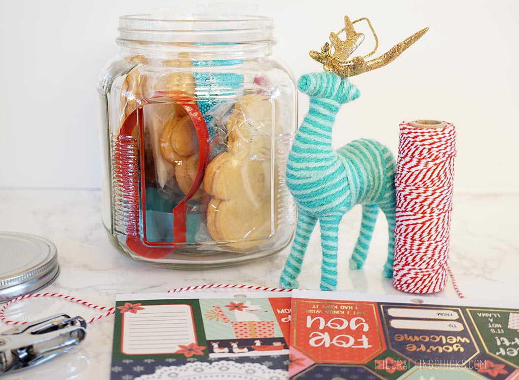 Packaged Cookie Gift Jar Idea