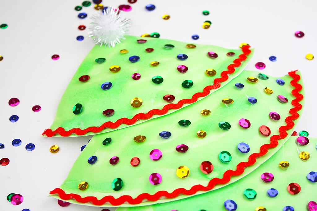 Puffy Paint Paper Plate Christmas Tree Craft