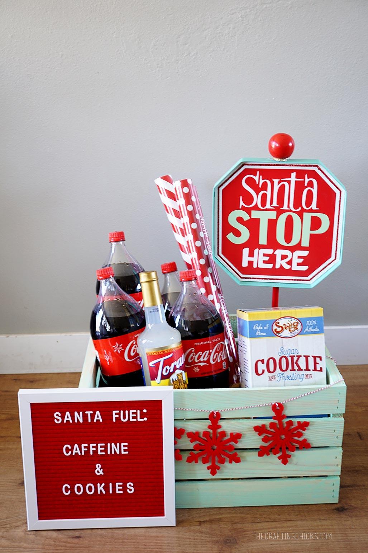 Santa Stop Gift Basket