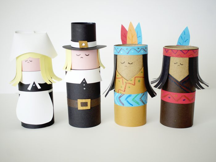 Thanksgiving Craft Tube People