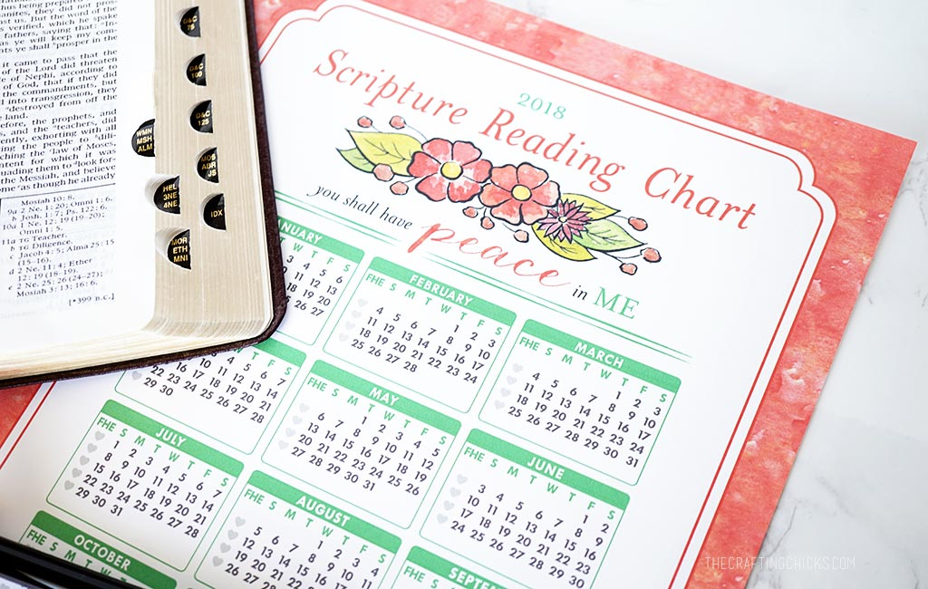 2018 Mutual Theme Scripture Reading Chart