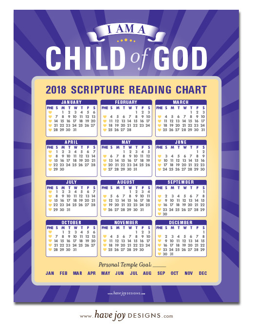 Primary Scripture Reading Chart 2018