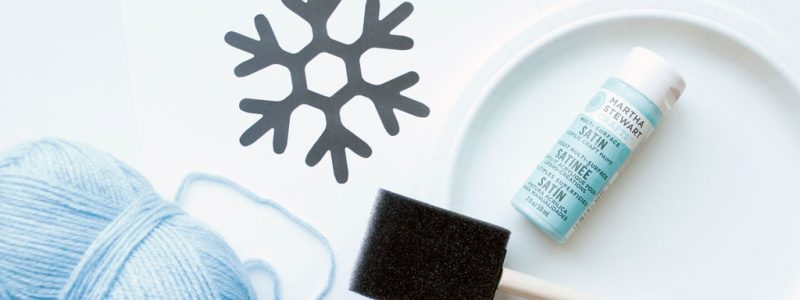 Snowflake Paper Plate Kids' Craft