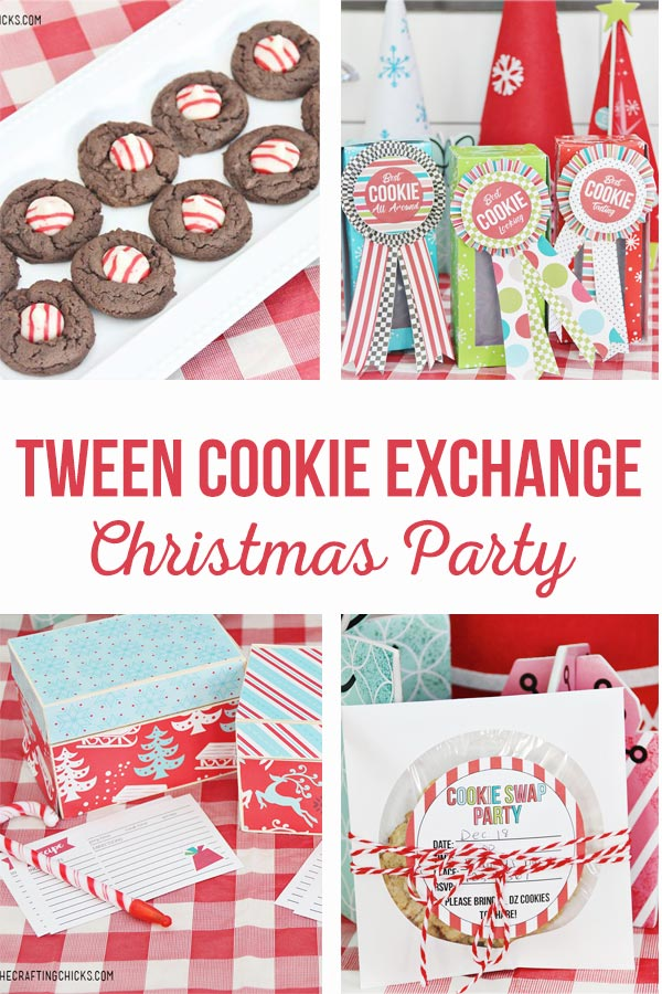 Tween Cookie Exchange Christmas Party | Recipes, decor, pritnables, and invitations for a fun tween Christmas cookie exchange party!