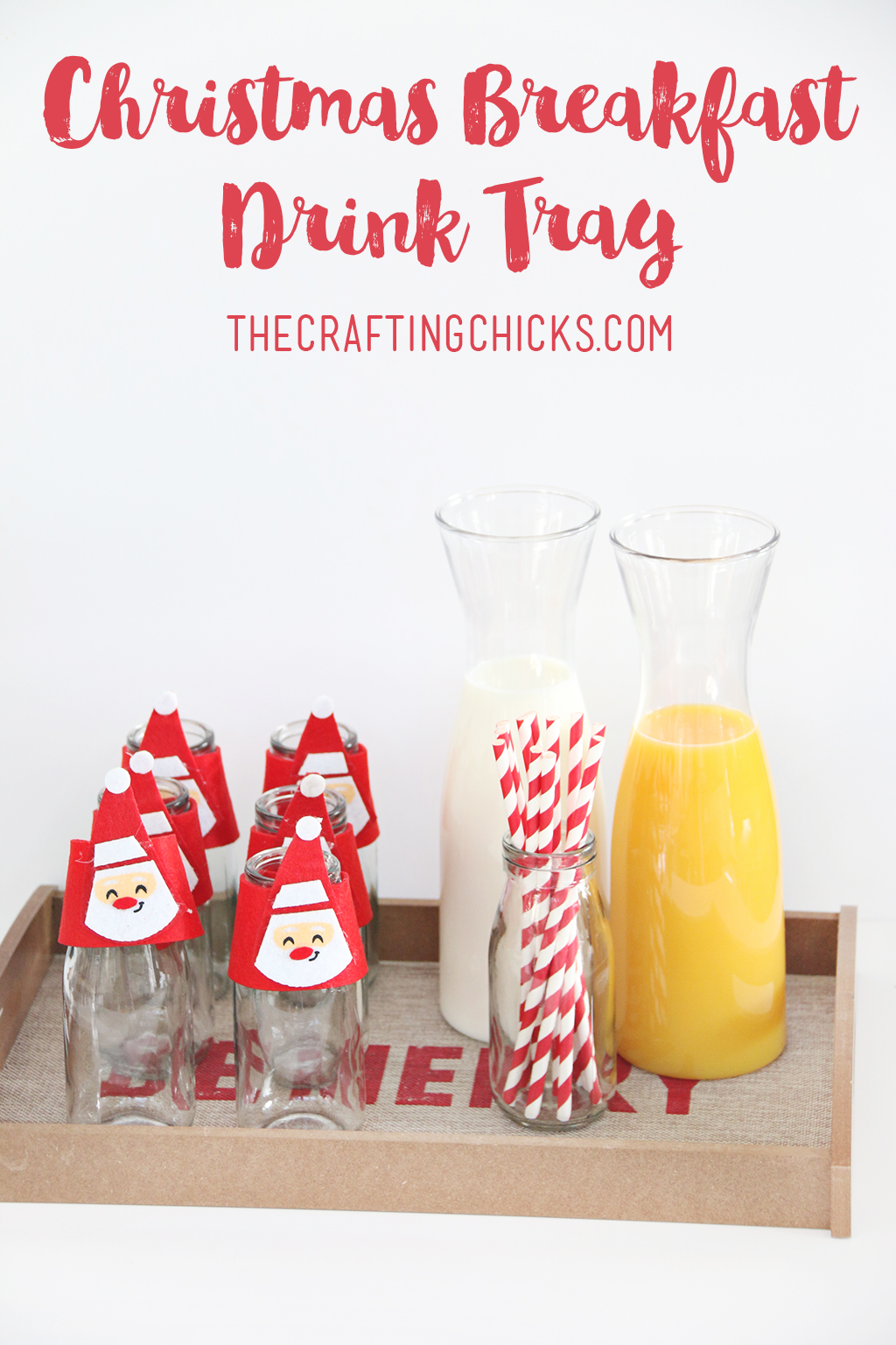 Christmas Breakfast Drink Tray for Your Christmas Morning Breakfast