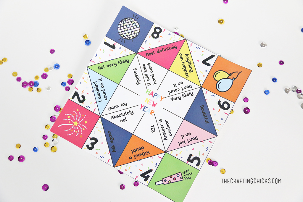 New Year's Eve Fortune Teller Printables