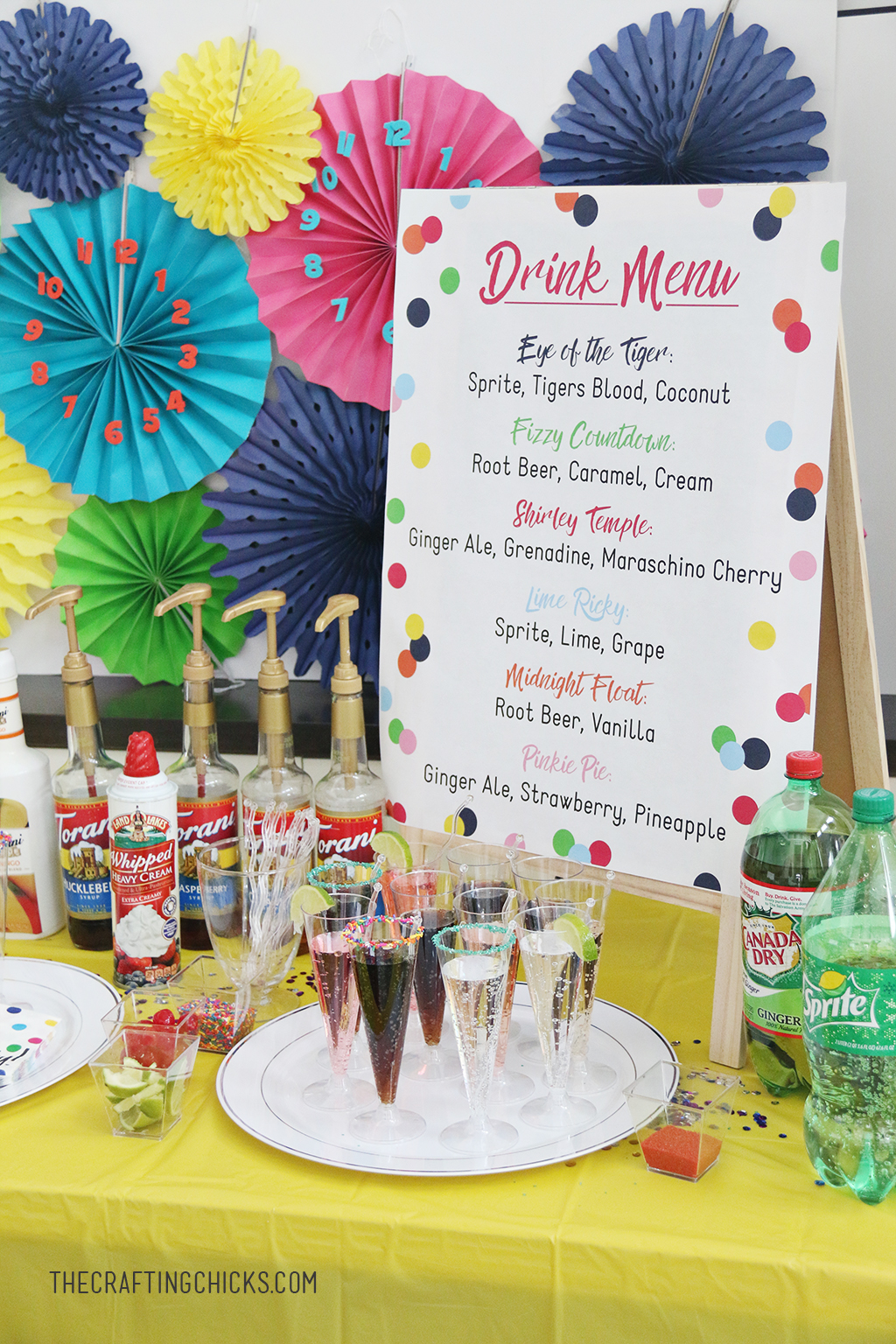 Mocktails for Kids' is a great way to ring in the New Year or any party. We added this fun Printable Kids' Mocktail Menu to our Noon Year's Eve Party that we threw our kids and it was a hit.